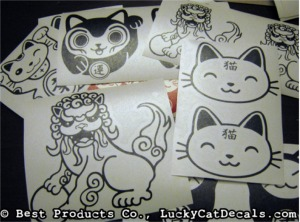 Lucky Cat Decals